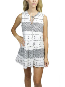Jamie Sleeveless Pattern Tunic