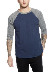 Blocked Long Sleeve Raglan Tee