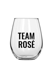 Team Rosé Plastic Stemless Wine Glass
