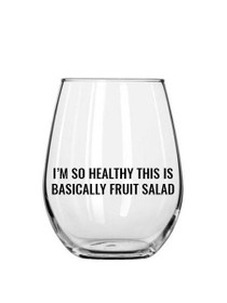 Fruit Salad Plastic Stemless Wine Glass