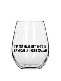 Fruit Salad Plastic Stemless Wine Glass