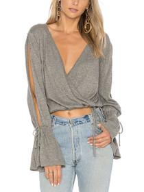 Chateau Wrap V-Neck Long Sleeve Sweater