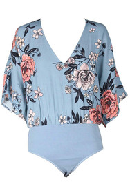 New Romantic Floral V-Neck Bodysuit