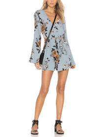 New Romantic Long Sleeve Floral Playsuit