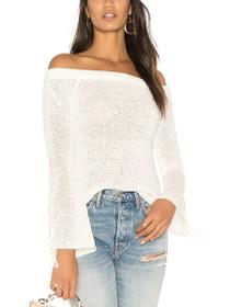 Antoinette Off Shoulder Knit Sweater