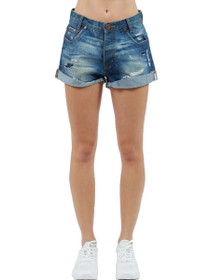 Hawks Denim Short in Blue Cult