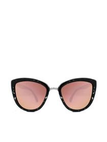 My Girl Reflective Sunglasses in Black Tortoise/Pink Mirror
