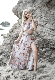 Flower Child Wrap Maxi Skirt by The Indie Gypsie