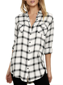 Sylvia Plaid Button Down Tunic