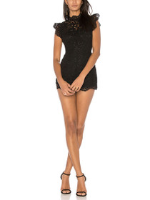 Priscilla Lace High Neck Romper