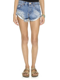 Bandits Distressed Denim Short in Pacifica