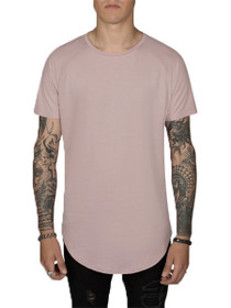 Scooped Short Sleeve Raglan Tee