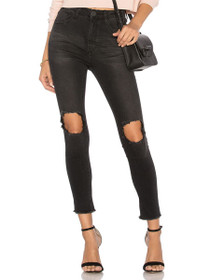Freebirds II High Waist Denim in Black Punk