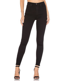 Kendall High Waist Skinny Denim in Black Magic