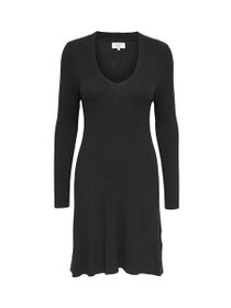 Mona Long Sleeve Ribbed Knit Dress