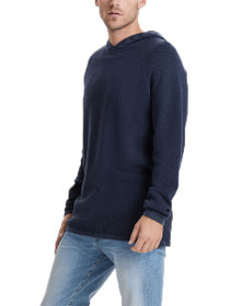 Hugh Hooded Knit Pullover Sweater