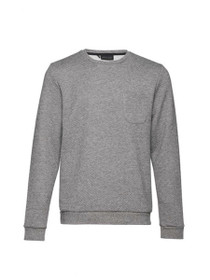 Oshawa Quilted Crew Neck Pocket Sweatshirt
