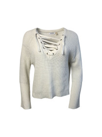 Hard To Love Lace-Up Sweater