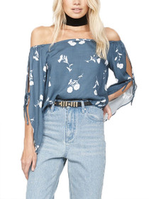 Fall Blooms Off The Shoulder Top
