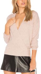 Carmen Wrap Front Knit Sweater