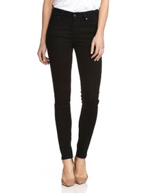 721 High Rise Skinny Denim in Soft Black