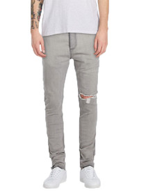 Joe Blow Straight Denim in Grey Shred