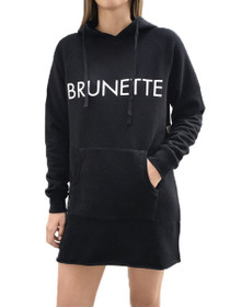 Brunette Middle Sister Hoodie Dress