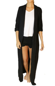 Freefall Luxe Maxi Robe in Black