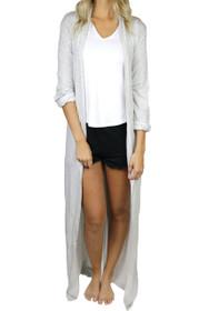Freefall Luxe Maxi Robe in Grey