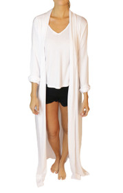 Freefall Luxe Maxi Robe in White
