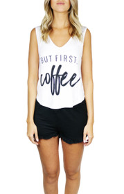 But First Coffee Graphic PJ Set