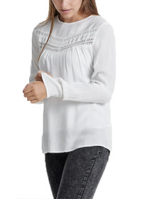 Hanna Long Sleeve Detailed Top