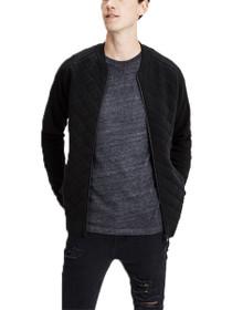 Quilt Knit Zip Cardigan