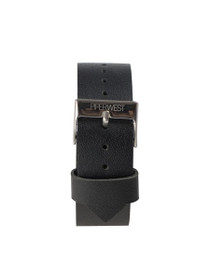 Leather Strap in Black/Silver
