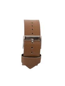Leather Strap in Tan/Silver