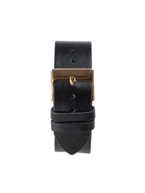 Leather Strap in Black/Rose Gold
