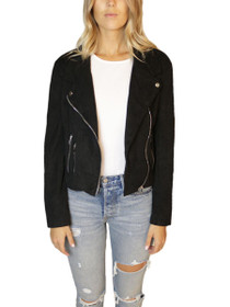 Muse Vegan Suede Moto Jacket
