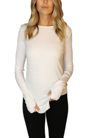 Closer Ribbed  Long Sleeve with Thumb Holes