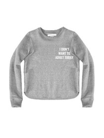 Adult Today Cropped Crew Neck Sweater