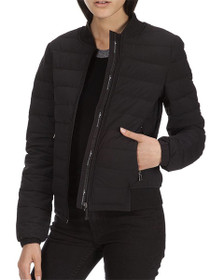Rosedale Quilted Zip Bomber