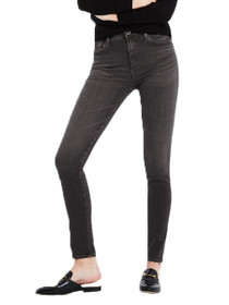Farrah Skinny High Waisted Denim in Grey Mist