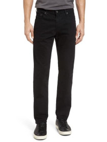 Tellis Slim Straight Denim in Super Black