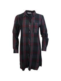 Now Or Never Plaid Shirt Dress
