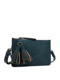 Farah Mini Crossbody Vegan Bag in Peacock