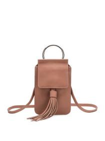 Dory Tassel Crossbody Vegan Bag in Blush