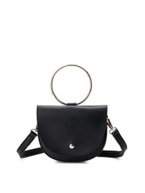 Felix Ring Crossbody Vegan Bag in Black