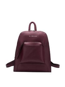 Joelle Tech Inspired Vegan Backpack in Burgundy