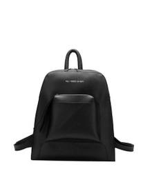Joelle Tech Inspired Vegan Backpack in Black