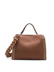 Delisia Vegan Shoulder Bag in Saddle