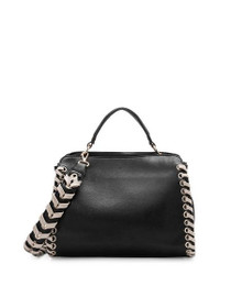 Delisia Vegan Shoulder Bag in Black